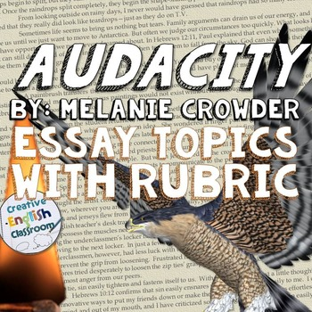 audacity by melanie crowder response essay topics rubric