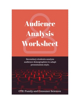 audience analysis worksheet kidz activities. Black Bedroom Furniture Sets. Home Design Ideas
