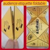 Audience Etiquette Foldable