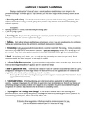 Audience Etiquette Guidelines during a traditional music concert