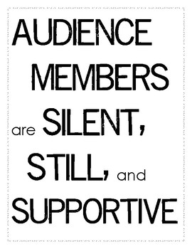Audience Etiquette Poster