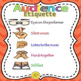 Audience Etiquette Poster (FREEBIE!)
