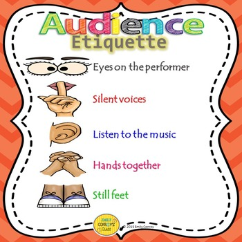 Audience Etiquette Poster (FREEBIE!)