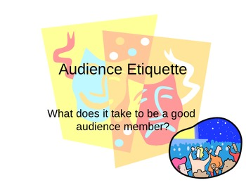 Audience Etiquette Power Point