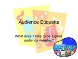 Audience Etiquette Power Point