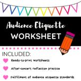 Audience Etiquette Worksheet