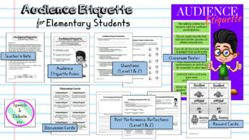 Audience Etiquette for Kids (Elementary)