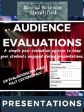 Audience Evaluations for Student Presentations