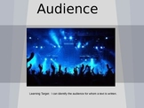 Audience and Purpose