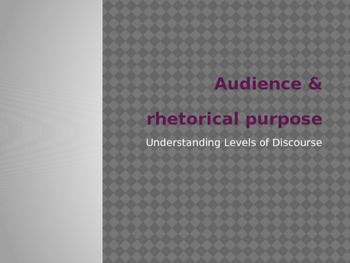 Audience and Rhetorical Purpose Powerpoint Presentation