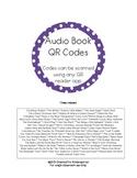 Audio Book QR Codes - Listening Center