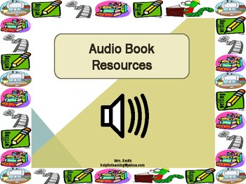 Audio Book Resources