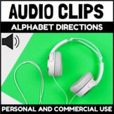 Audio Clips Alphabet Directions Sound Files for Digital Ac