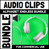 Audio Clips Alphabet Endless Bundle Sound Files for Digita