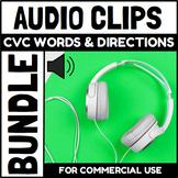 Audio Clips CVC Endless Bundle Sound Files for Digital Activities