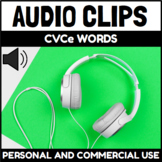 Audio Clips CVCe Words Sound Files for Digital Activities