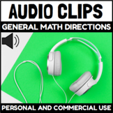 Audio Clips General Math Directions Sound Files for Digita