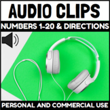 Audio Clips Numbers 0-20 with Directions Sound Files for D