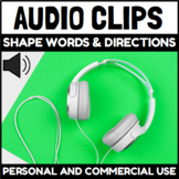 Audio Clips Shape Words and Directions Sound Files for Dig