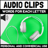 Audio Clips Words for the Alphabet Sound Files for Digital