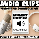 Audio Files for Digital Products: Alphabet Directions