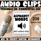 Audio Files for Digital Products: Alphabet Words