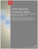 Audio Materials Evaluation Matrix
