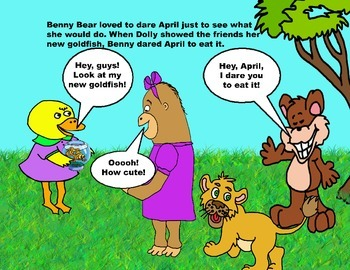 Audio Picture Book PowerPoint APRIL APE MAKES OTHERS LAUGH (Taking a dare)