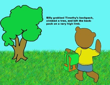 Audio Picture Book PowerPoint BILLY BEAR LEARNS A LESSON (Bullying)