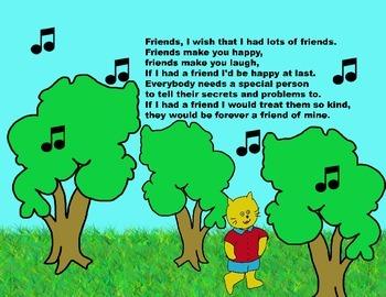 Audio Picture Book PowerPoint CASPER CAT FINDS A FRIEND (Kindness)