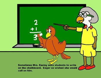 Audio Picture Book PowerPoint EAGER EAGLE LOVES SCHOOL (Facing consequences)