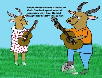 Audio Picture Book PowerPoint GAIL GAZELLE GOT A GUITAR (Consider others)