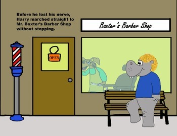 Audio Picture Book PowerPoint HARRY HIPPO HATES HAIRCUTS (courage)