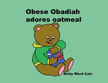 Audio Picture Book PowerPoint OBESE OBADIAH OVEREATS (Maki