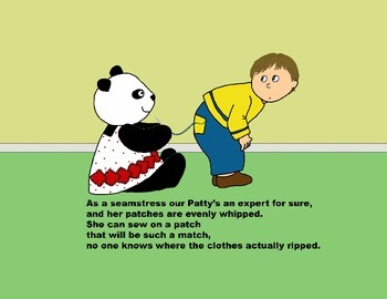 Audio Picture Book PowerPoint PATTY PANDA'S PERFECT PATCHES (Fun with shapes)