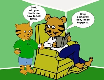 Audio Picture Book PowerPoint TIMOTHY TIGER TELLS TIME (Taking time to listen)