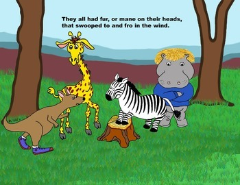 Audio Picture Book PowerPoint  WILLY WALLABY ON BEING BALD (Self esteem)