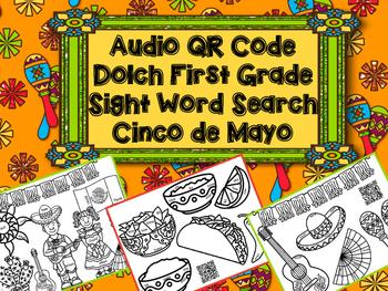 Cinco de Mayo QR Code Sight Word Search