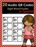 20 Audio QR Codes Sight  Word Puzzles in Spanish
