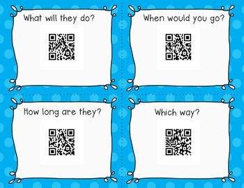 (Audio) QR Codes Task Cards for First 100 Fry Words