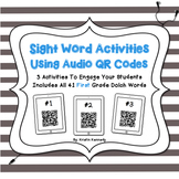 Sight Words Audio QR Code Activities: First Grade