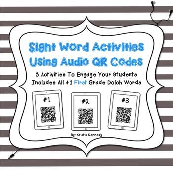 Sight Words Audio QR Code Activities: First Grade
