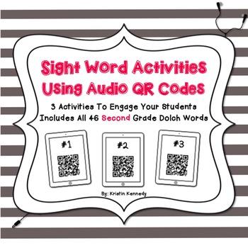 Sight Words Audio QR Code Activities: Second Grade