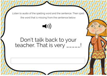 Audio Spelling List /oo/ Sound digital task cards