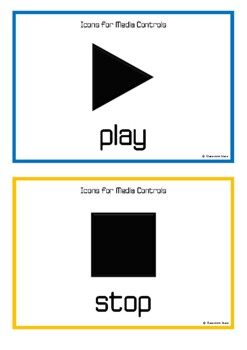 Audio and Video Buttons