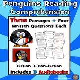 3 Penguins Reading Comprehension Passages with Questions: Penguins Passages