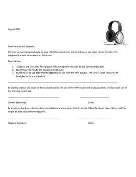 Audiobook/Playaway Student & Parent Contract