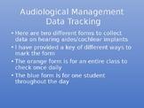 Audiological Management Data Tracking Form