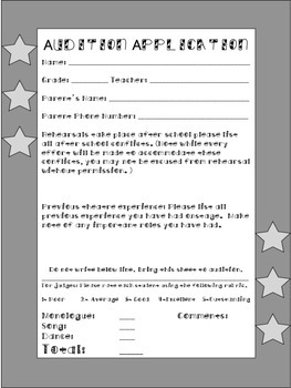 Audition Application