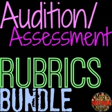 Audition/Assessment Rubric Bundle - SINGING, HIP-HOP, ACTING, CHOREO DANCE, RAP